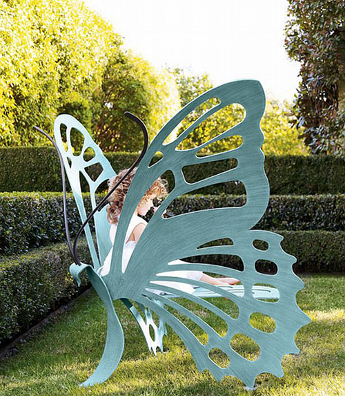 BUTTERFLY BENCH by Cricket Forge